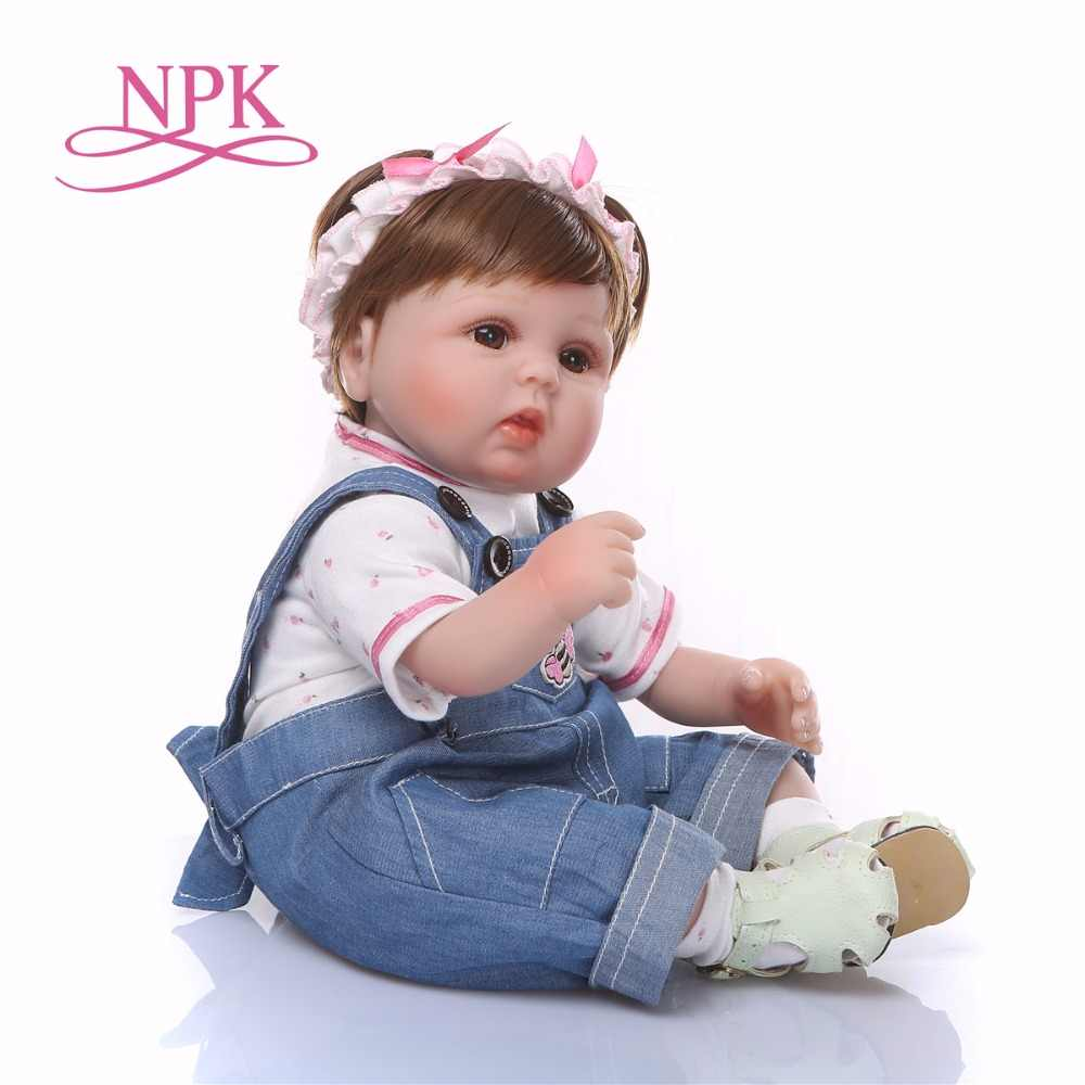 Bebes Reborn ตุ๊กตา 43 ซม.ซิลิโคนเด็กวัยหัดเดิน Reborn ตุ๊กตาทารก COM corpo de ซิลิโคน menina คริสต์มาส surprice ของขวัญตุ๊กตา