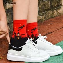 Sunfree 2017 New Hot Sale 3D Cartoon Halloween Socks Lovers Cotton Socks Floor Brand New and High Quality Nov 10