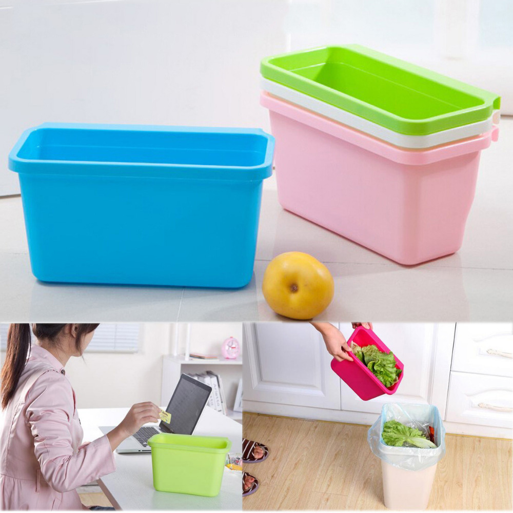 Plastic Desktop Storage Box Doors Hang Trash Kitchen Cabinet Garbage Basket In Waste Bins From Home Garden On Aliexpress Alibaba Group