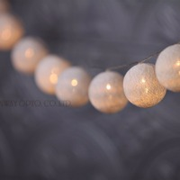 4 3M 20 Hard Cotton Ball Battery Operated Lights String For Garland Home Decoration Wedding Patio