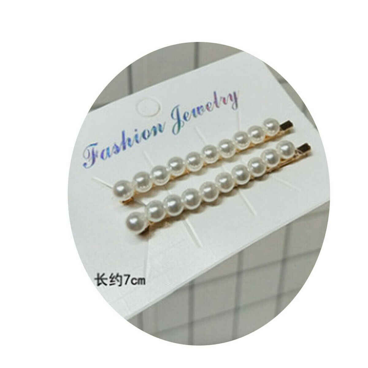 Women Jewelry Crystal And Pearl Head Wear Hairpin Hair Clip Bobby Pin Hair Grip Accessories