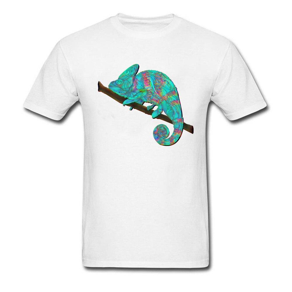 Хамелеон Remix дизайнер на день рождения топы Футболка с круглым вырезом лето осень 100% хлопок короткий рукав Футболка для Для мужчин летние ко...
