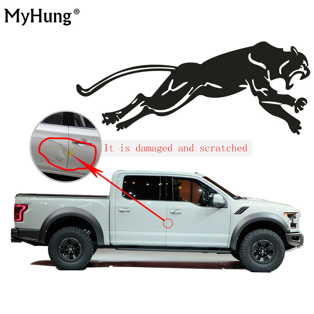 Sticker design for car online - Creative Wild Running Panther Hunting Car Body Decal Car Stickers Decoration Stickers For Auto Part Car