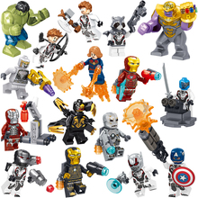 16PCS LegoING Avengers Endgame Sets Building Blocks Captain Marvel Iron Man Hulk Thanos Figures Bricks Super Heroes Toys