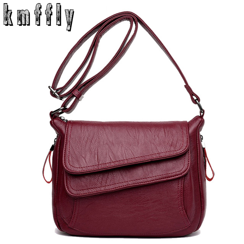 KMFFLY Luxury Women Messenger Bags Designer Woman Bag 2018 Famous Brand Leather Small Shoulder Bags Tote Bag Sac A Main Femme