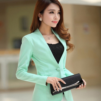 цена Blazer feminino Ladies Blazer Long Sleeve Blaser Women Suit jacket Female Feminine Blazer Femme  Blazer Autumn онлайн в 2017 году