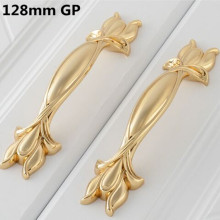 96mm 128mm retro style furniture handles antique brass antique copper dresser kitchen cabinet door handles 24K gold drawer pulls