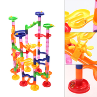 High Quality 105PCS DIY Construction Marble Race Run Maze Balls Track Building Blocks Children Gift Baby