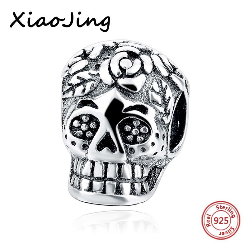 Hot sale Special skull Beads Fit Pandora charms silver 925