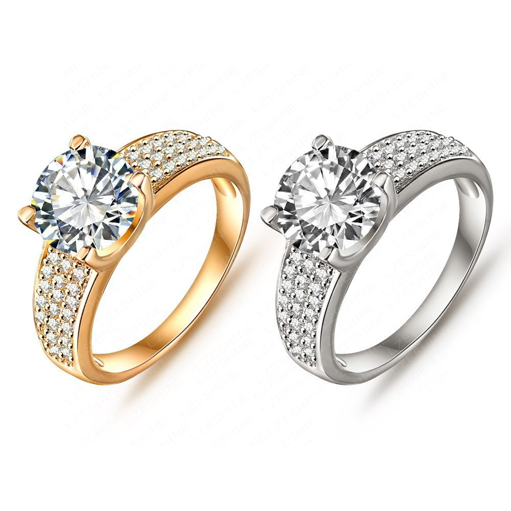 rings true zircon ring romantic z crystal gold quality lady smooth high pamper white item round