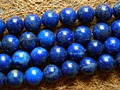 Free shipping (2 strands/set) natural lapis lazuli 10mm smooth round european charm bracelet blue gem beads