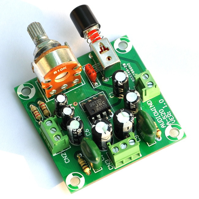 2-Chl 0.7 Watt Audio Amplifier Module, Based On NJM2073