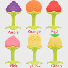 Baby Teether Silicone Fruit Shape