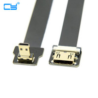 5PCS FPV Micro HDMI Male Down Angled 90 Degree to Mini HDMI Female FPC Flat Cable for Multicopter Aerial Photography 0.2m/0.5m