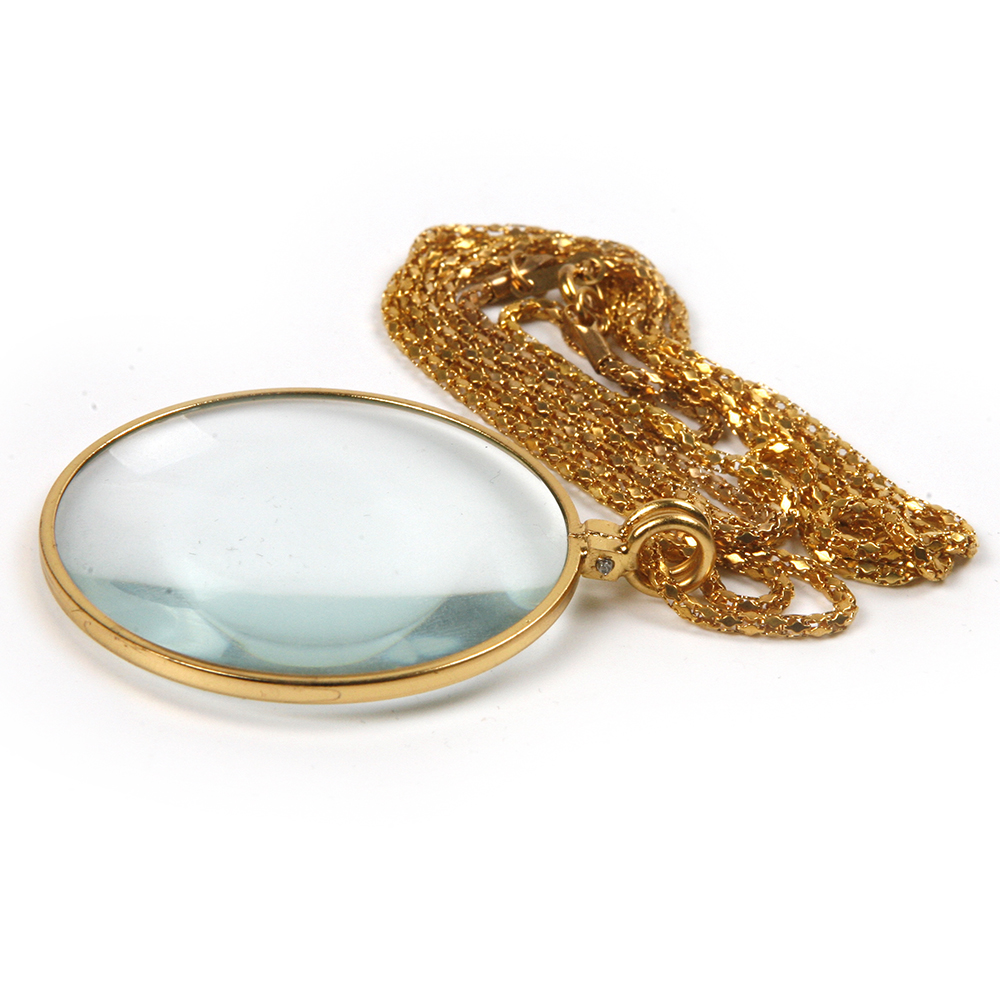 Naujas diametro 42 mm aukso 5X didinamojo stiklo karoliai, dėvintis - Matavimo prietaisai - Nuotrauka 3