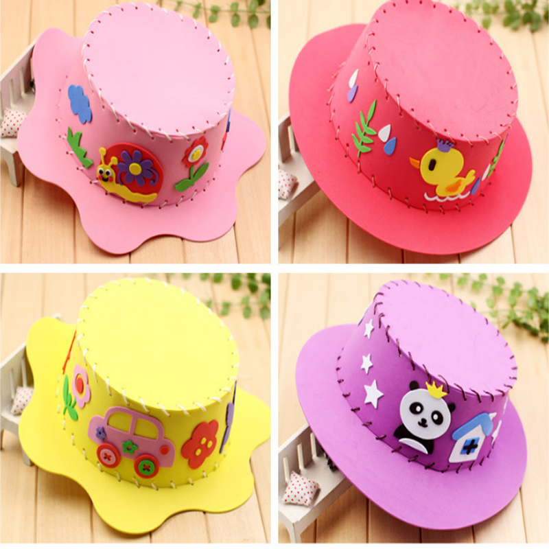 Creative Hats: 1 Pcs/set Cute Baby Kids Educational Hat Craft Kit Cute