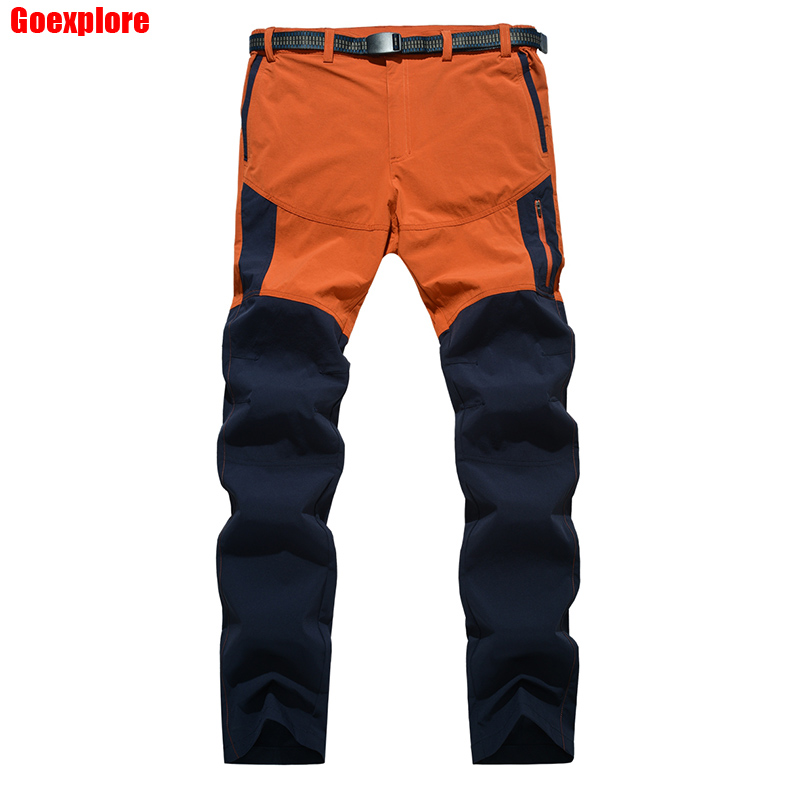 Dropshipping New 2019 Summer Spring Climbing Hiking Elastic Trousers Male Outdoor Sports Travelling Pants mountain pants men image