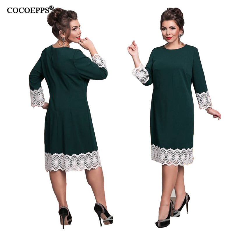 2019 Plus Size ქალის კაბა 5XL 6XL - ქალის ტანსაცმელი - ფოტო 5