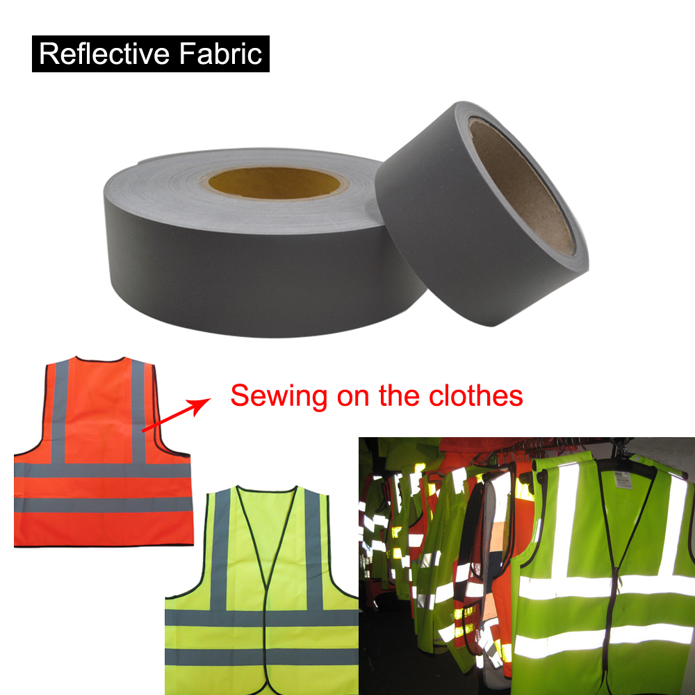 T/C Safety Gray Reflex Fabric sew on for Safety clothing maritime safety