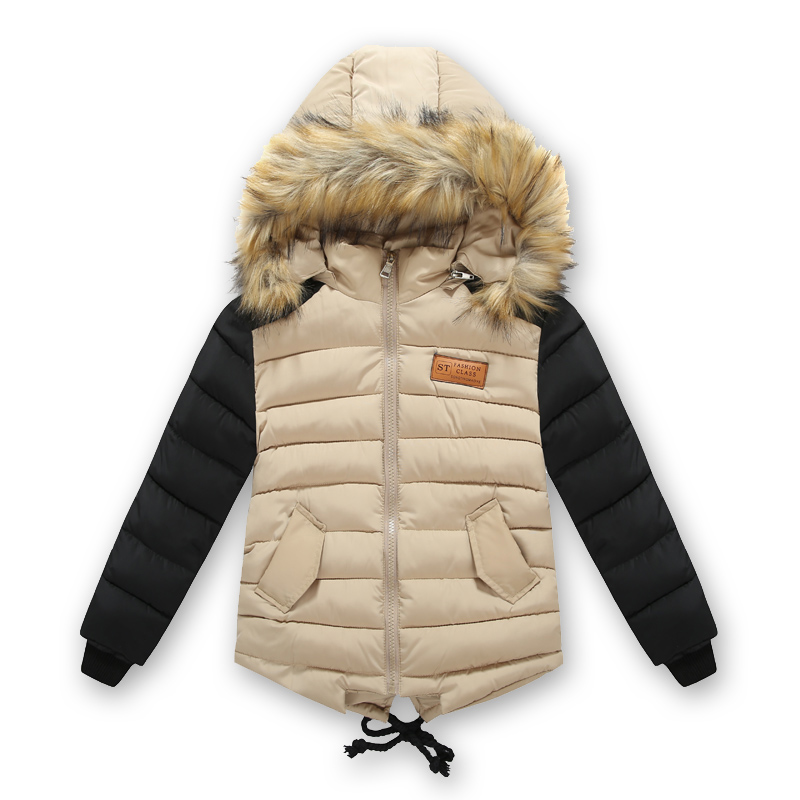 ФОТО Winter Jacket For Boy Parka Children's Clothing Cotton-padded jacket down cotton wadded thickening boys thicken Hooded coat
