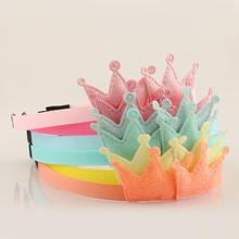New Childrens Headband Golden Gifts 6PC Party Kids Pink Hairband Star Heart Crown Handmade Hair Accessories