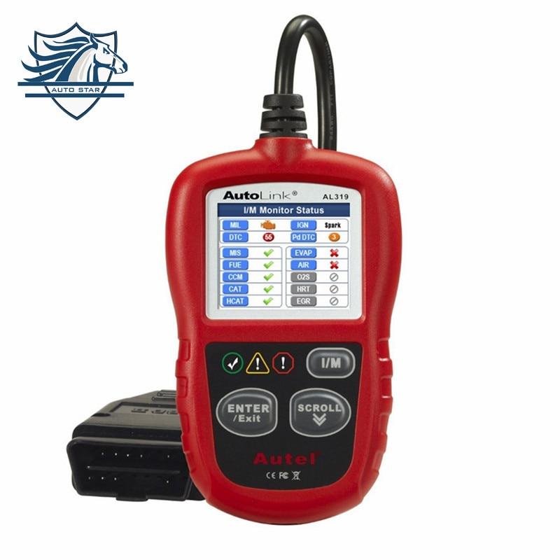 Hot Sale Original Auto Diagnostic DIY Code Reader Autel AutoLink AL319 OBD2 Code Scan font b