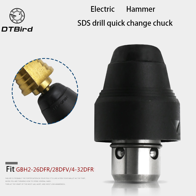 SDS Drill Chuck Replacement for Bosch GBH2-26DFR GBH2-28DFV GBH4-32DFR Tool Holding Fixture Hammer Drills Change Fittings high quality electric hammer drill boutique stator case plastic shell for bosch gbh2 28 gbh2 28d gbh2 28dfv