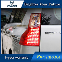 Vland Car Styling For Toyota Land Cruiser Prado FJ150 2009 2017 LED Taillight Lamps Red White