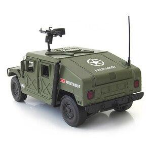 Image 5 - 合金ダイキャストハマー戦術車両 1:18 軍事装甲車ダイキャストモデルと 5 をオープンしました趣味のおもちゃ子供のため誕生日