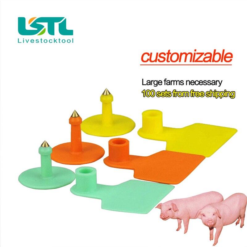 Vieh Tierohrmarken Cattle Schwein Ohrmarken Seufzer Ohne Worte Bauernhof Tierkennzeichnung Eingabe Kupfer Kopf Ohrringe