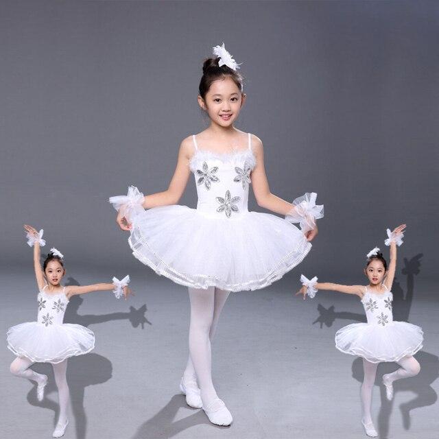beb3ac3976 Dance Clothes Children Ballet Tutu Child Swan Lake Ballet Costumes White  Ballerina Dress Kids