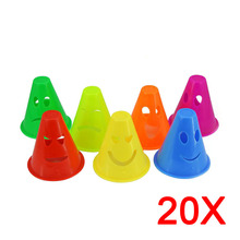 20pcs/Lot Funny Wink Style Skate Pile Cup Windproof Roller Skating Cone Agility Training Marker Slalom Skateboard Cones