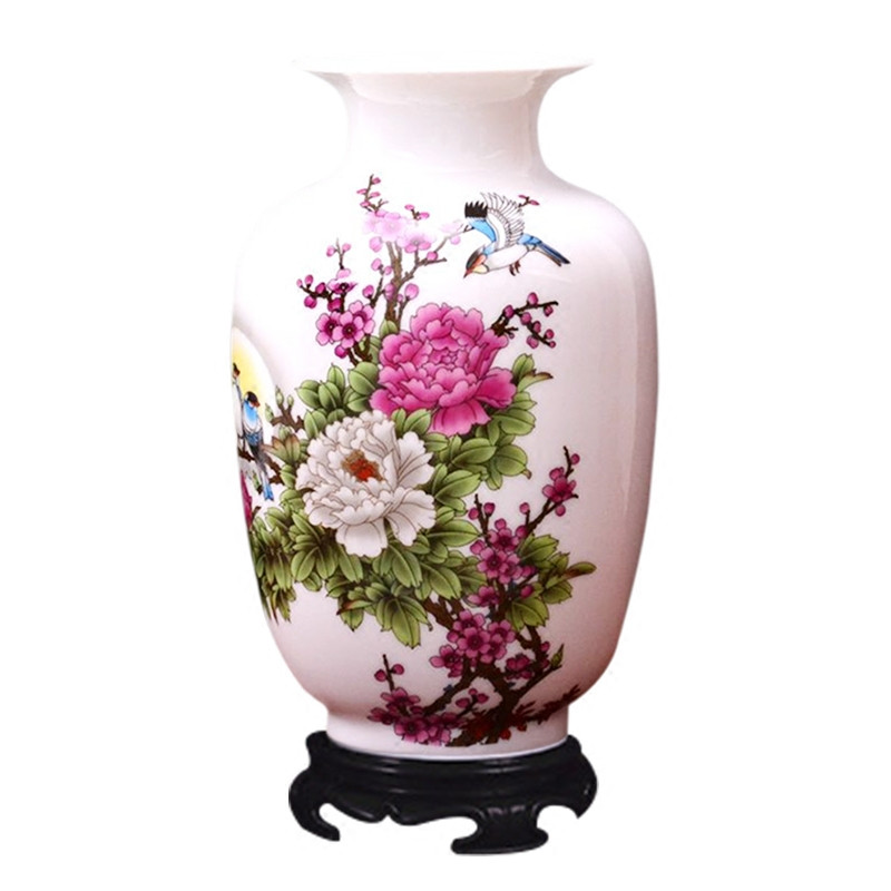 Ceramic vase with artificial flower garden cabinet decoration Rose mattirian lily peony landscape set model