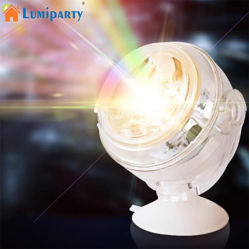 LumiParty Colorful LED Submersible Underwater Aquarium Spot Light Decorative Fish Tank Lamp