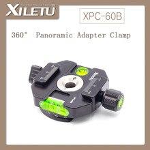 XILETU XPC-60B Interface de Adaptador de Fixação Braçadeira & Prato de Liberação Rápida Da Liga de Alumínio Parafuso 1/4 '-3/8' Com 3 contas horizontais