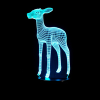 3D LED Lamp Light USB Cute Small Deer 7 Colorful Night Light For Wedding Decor Innovative