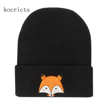 Фотография Fashion Hat for Women Knitted Beanie Cap Winter Cute Animal Skullies Chapeu Girl