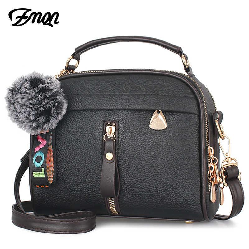bbd6ba19db5 ZMQN Crossbody Bags For Women 2018 Handbag Shoulder Bag Female Leather Flap  Black Cheap Women Bags