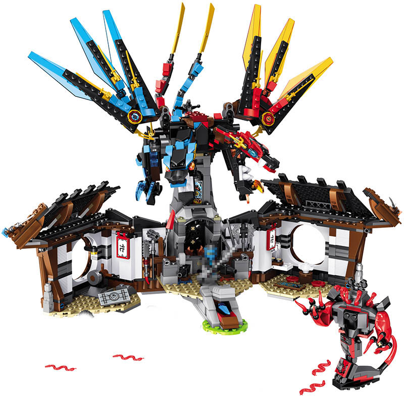 1157PCS NEW Ninjago Series Building Blocks Sets Secret Base of Two Elements Dragon Compatible LegoINGLYS Ninjajo Technic Toys new lp2k series contactor lp2k06015 lp2k06015md lp2 k06015md 220v dc