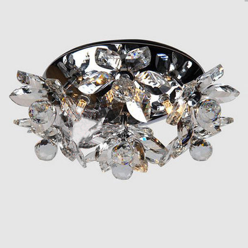 new round crystal ceiling lights LED plafonnier modern lamps for living room cristal light fixtures