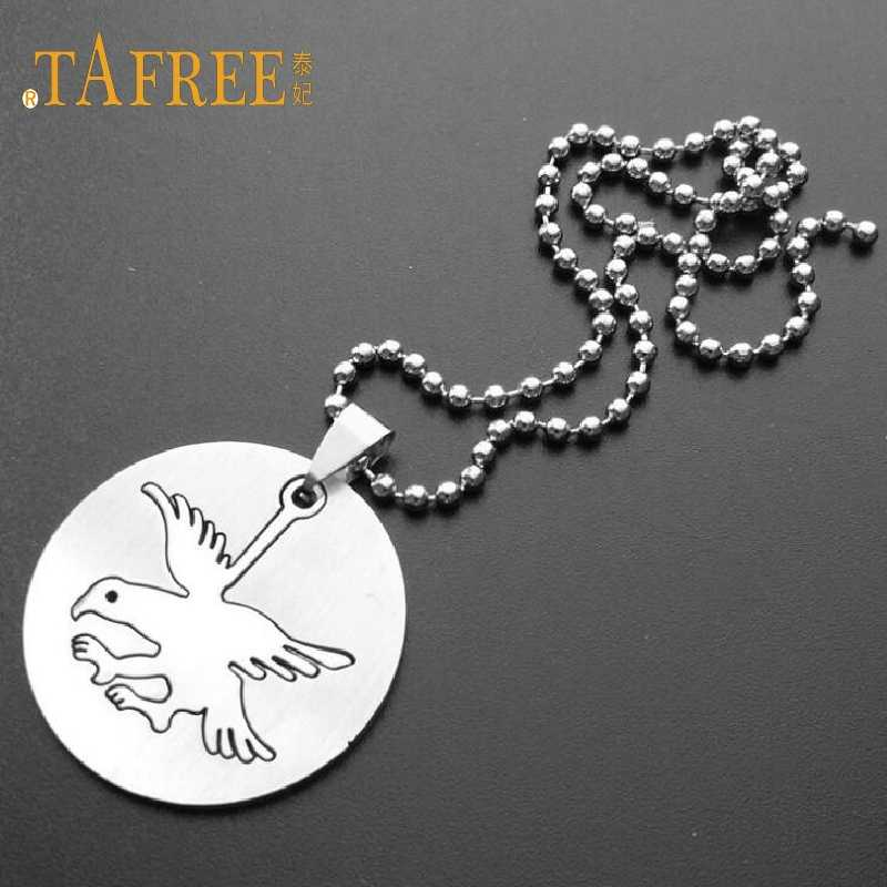 TAFREE Fashion Stainless steel Anchor/Free Bird Pendant Necklace for  Simple Bead Chain Necklaces for Women gift jewelry  SQ066