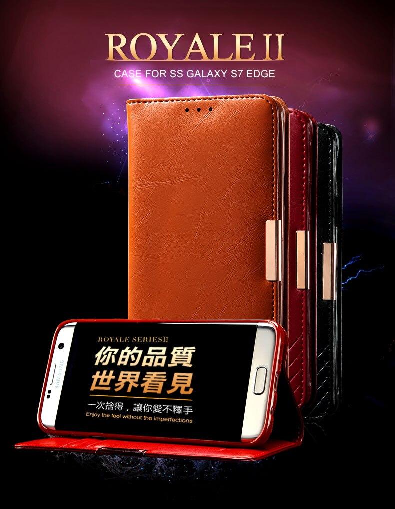 ee3db80fbb7d Для Samsung Galaxy S7 Edge чехол Роскошные KALAIDENG Royale II серии Пояса  из натуральной кожи чехол Wallet откидная крышка для Samsung S7 Edge
