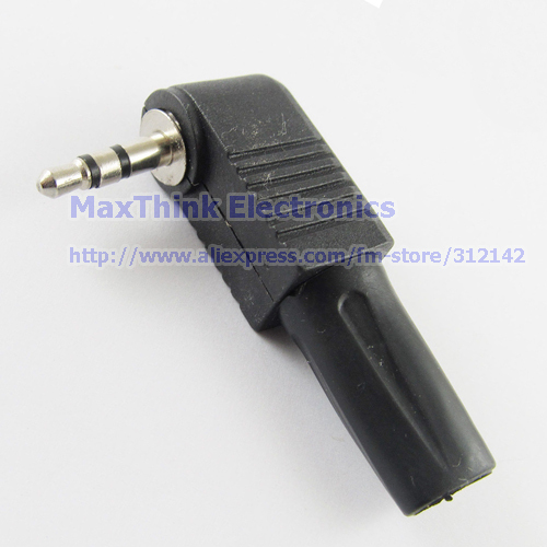 Copper 3 5mm Stereo Male Plug Right Angle Audio Trs
