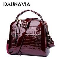 New Handbag Patent Leather Handbag Crocodile Retro Lady Handbag Handbag Luxury Shoulder Bag