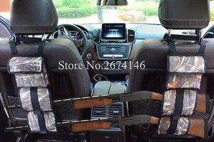 Image 5 - Portable Multi Function Camouflage Hunting Bag for Car Rear Seat Belt Gun Rack travel Hunt supplies Muti pockets shotgun sling