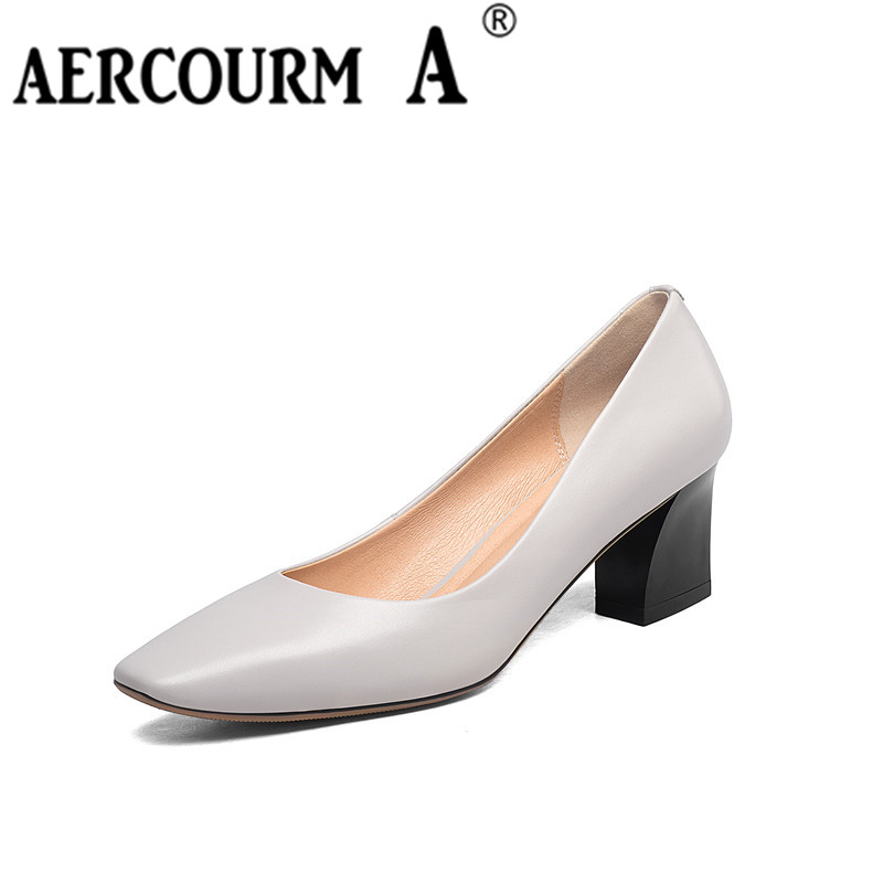 Aercourm un 2017 zapatos de piel de vaca de las mujeres del otoño - Zapatos de mujer - foto 1