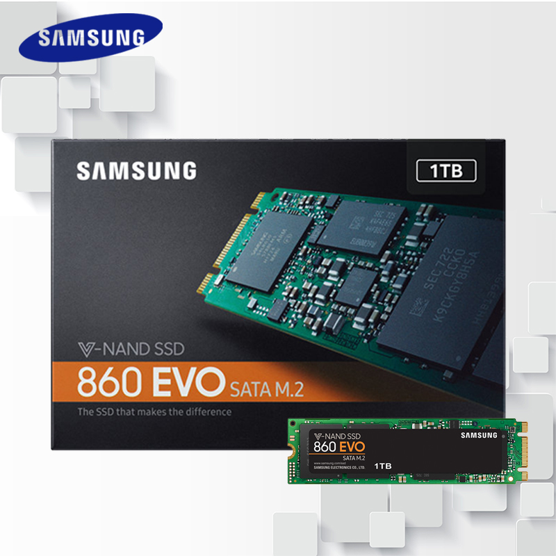 Samsung M.2 860 EVO Internal SSD 250GB 500GB 1TB 2TB M.2 SATA III Solid State Drive Hard High Speed for Laptop PC Computer