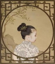ФОТО chinese children  ancient princess paintings gift home decor spray painting art picture for home restaurant decoration