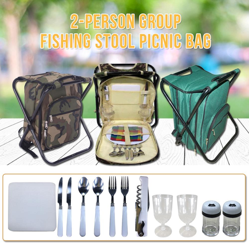 Camouflage Picnic Backpack Oxford Cloth Double-layer Insulation Bag Take-away Ice bag Outdoor Picnic Bag with Two-person TablewaCamouflage Picnic Backpack Oxford Cloth Double-layer Insulation Bag Take-away Ice bag Outdoor Picnic Bag with Two-person Tablewa