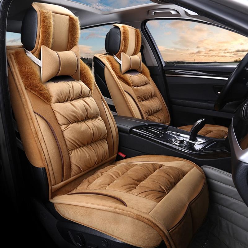 Car Seat Cover Car Seat Cushion Winter Mat For Volkswagen Beetle CC Eos Golf Jetta Passat Tiguan Touareg sharan Car Styling